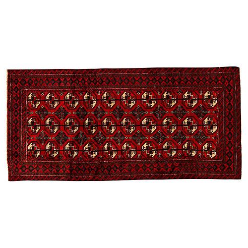 "Vintage Persian Rug, 3'7"" x 7'1"""