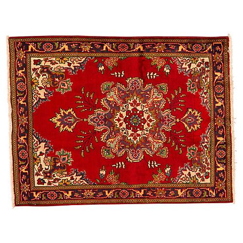 "Vintage Persian Tabriz, 5' x 6'5"""