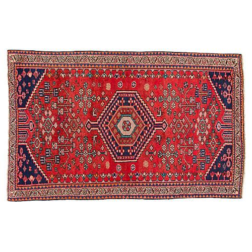 "Vintage Persian Shiraz, 4'10"" x 6'7"""