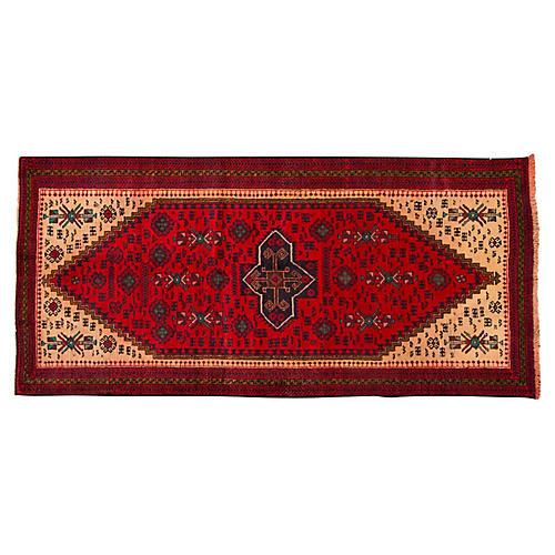 "Vintage Persian Hamadan, 3'4"" x 7'3"""