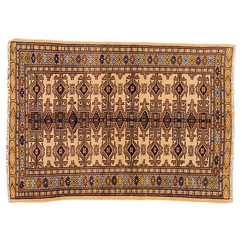 "Vintage Persian Rug, 3'4"" x 4'9"""