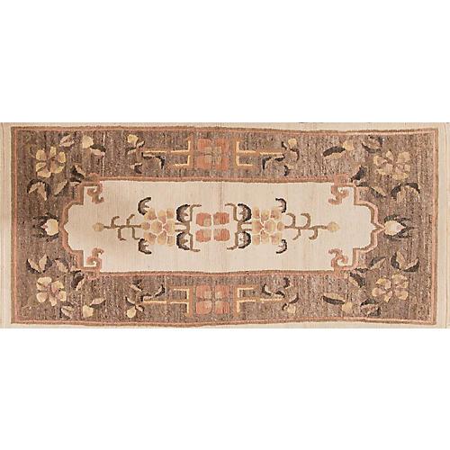 """Vintage Chinese Rug, 3' x 6'5"""""""