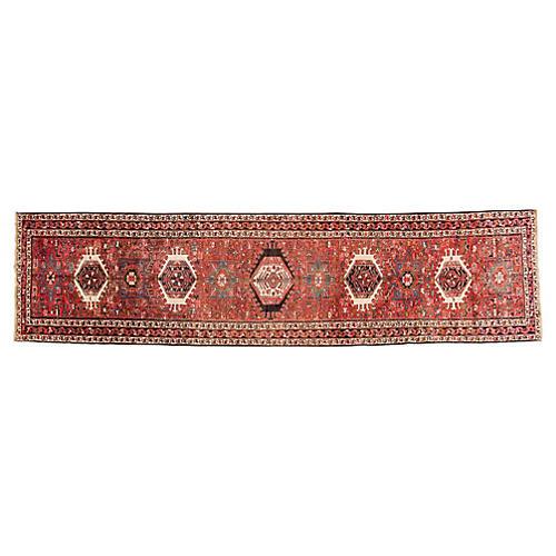"Vintage Persian Heriz Rug, 4' x 15'9"""