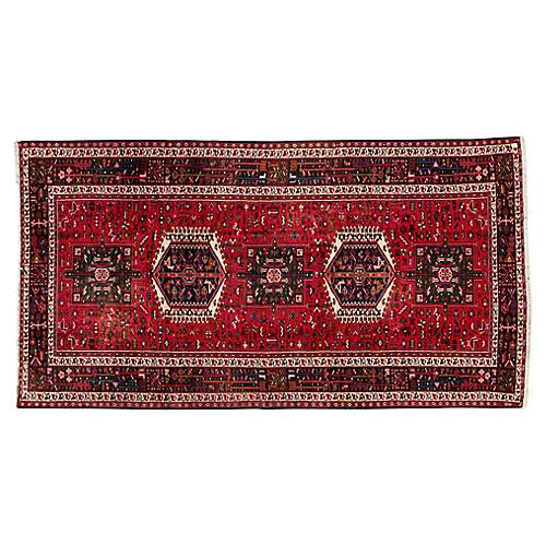 "Vintage Perian Heriz Rug, 5' x 9'9"""