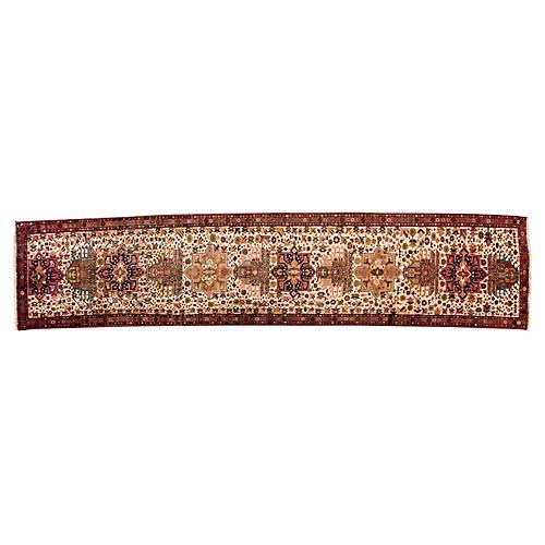 "Vintage Persian Heriz Rug, 2'10"" x 13'3"""