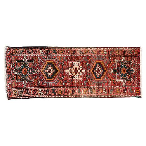 "Vintage Persian Heriz Rug, 1'11"" x 5'1"""