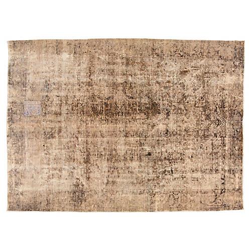 "Vintage Persian Heriz Rug, 9' x 12'3"""