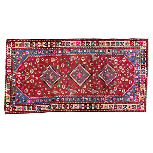 "Persian Shiraz Rug, 4'8"" x 9'3"""