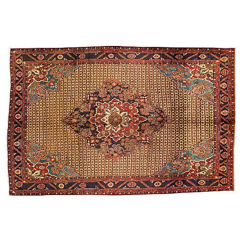 "Vintage Persian Bidjar Rug, 6'6"" x 10'2"""