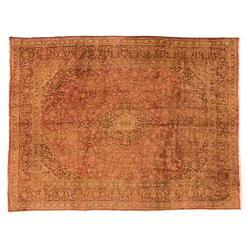 "Persian Tabriz Carpet, 9'5"" x 13'"