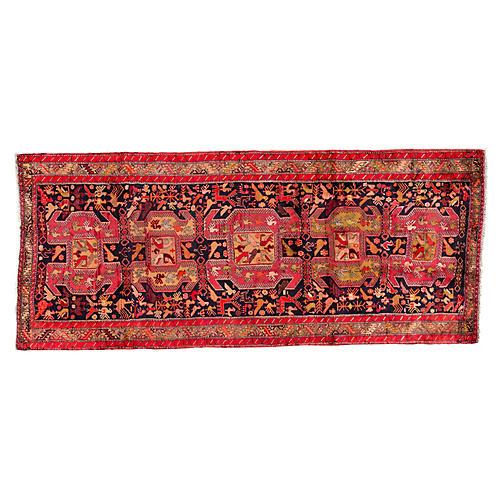"""Vintage Persian Heriz, 4'5"""" x 10'4"""""""