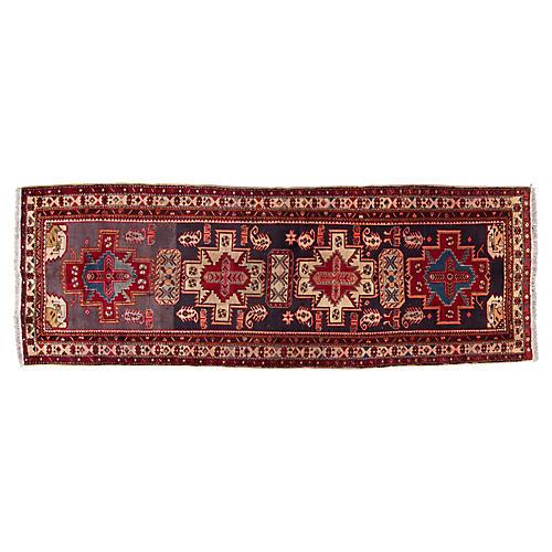 "Vintage Persian Heriz Rug, 3'9"" x 10'6"""