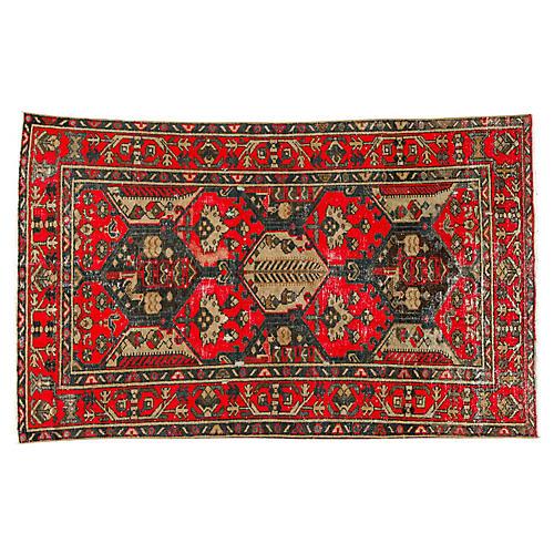 """Persian Tabriz Rug, 4'0"""" x 6'8"""""""