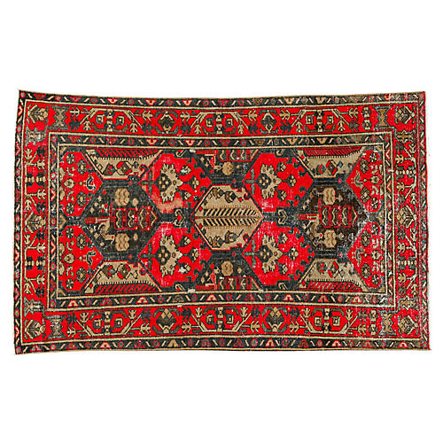 "Vintage Persian Tabriz Rug, 4'0"" x 6'8"""
