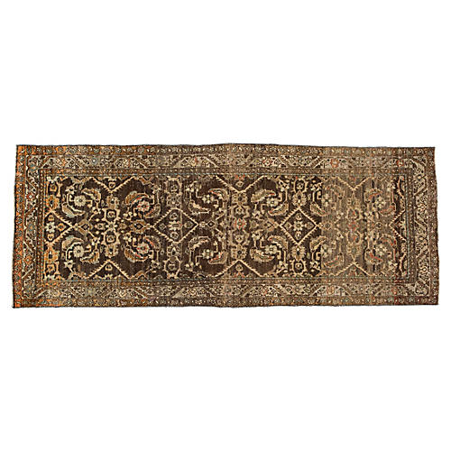 "Vintage Persian Rug, 3'6"" X 9'1"""