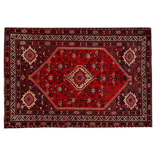 Persian Shiraz Rug, 7' x 10'3""