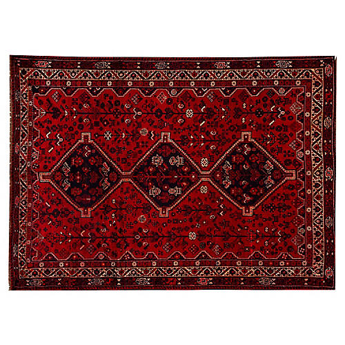 "Persian Shiraz Rug, 7'2"" x 9'11"""