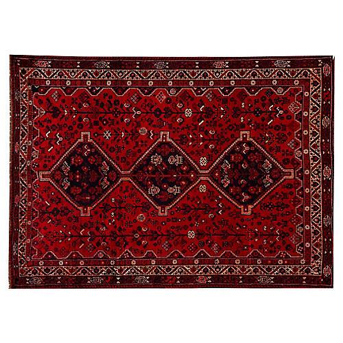 "Vintage Persian Shiraz Rug, 7'2"" x 9'11"""