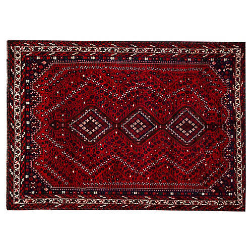 "Persian Shiraz Rug, 9'4"" x 10'9"""