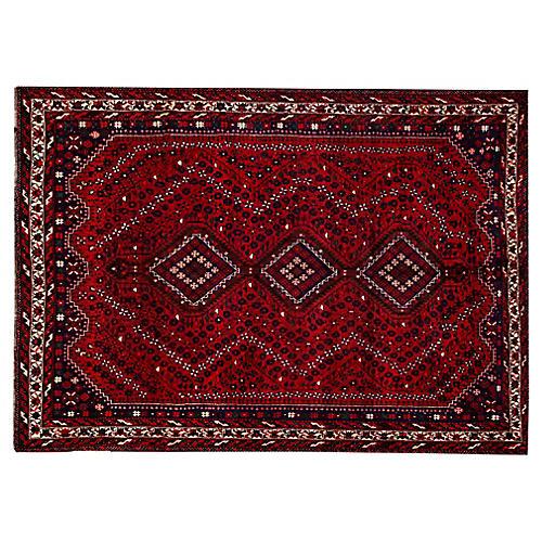 "Vintage Persian Shiraz Rug, 9'4"" x 10'9"""