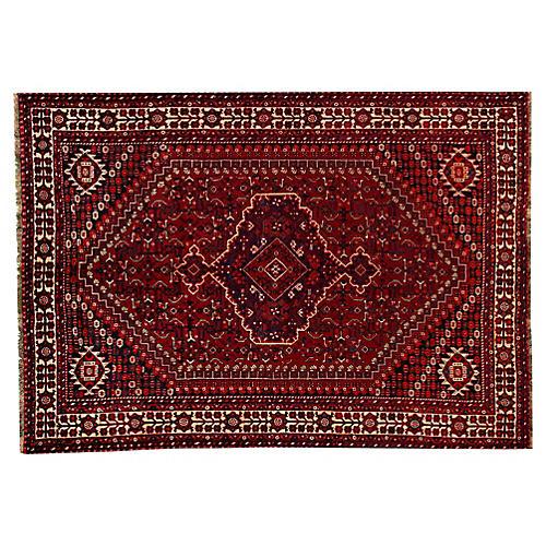 "Vintage Persian Shiraz Rug, 7'1"" x 10'"