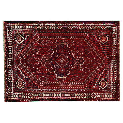 "Persian Shiraz Rug, 6'7"" x 10'"