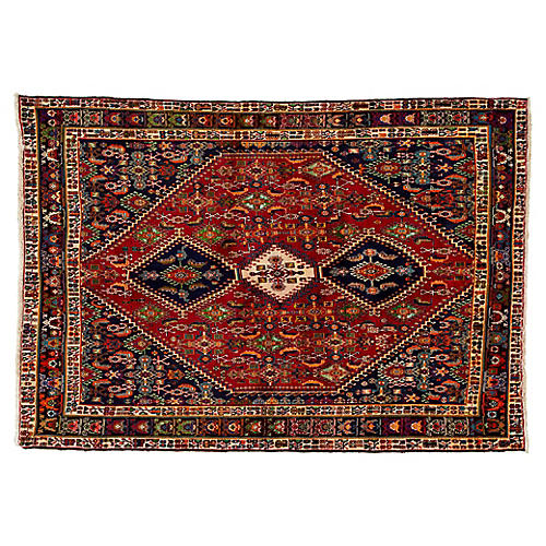 "Persian Shiraz Rug, 6'8"" x 9'8"""