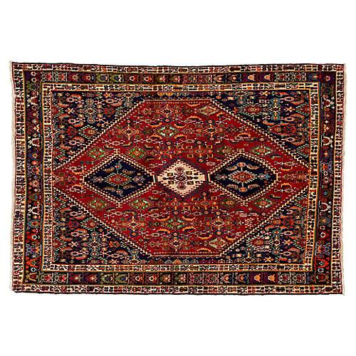 "Vintage Persian Shiraz Rug, 6'8"" x 9'8"""
