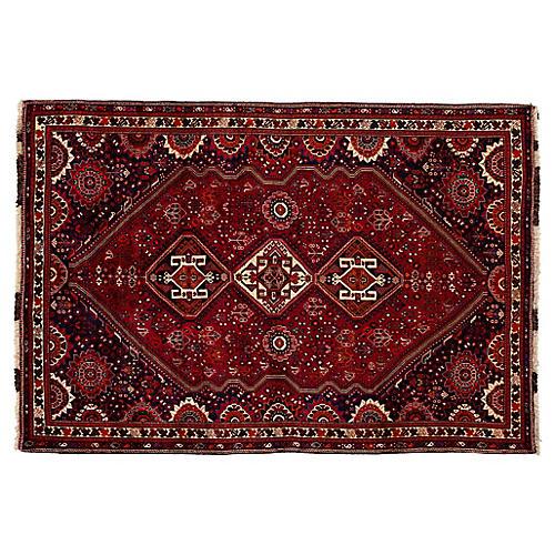 "Vintage Persian Shiraz Rug, 7' x 10'3"""