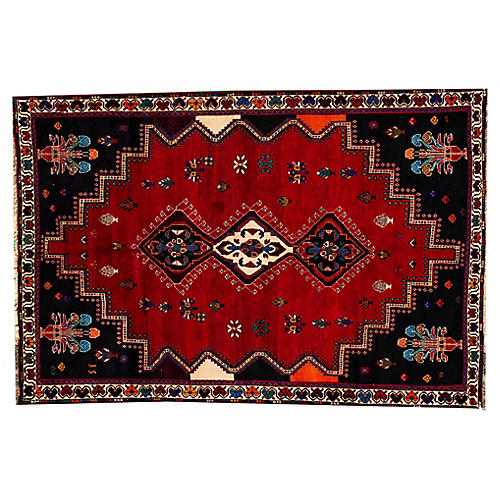 "Persian Shiraz Rug, 5'9"" x 8'7"""