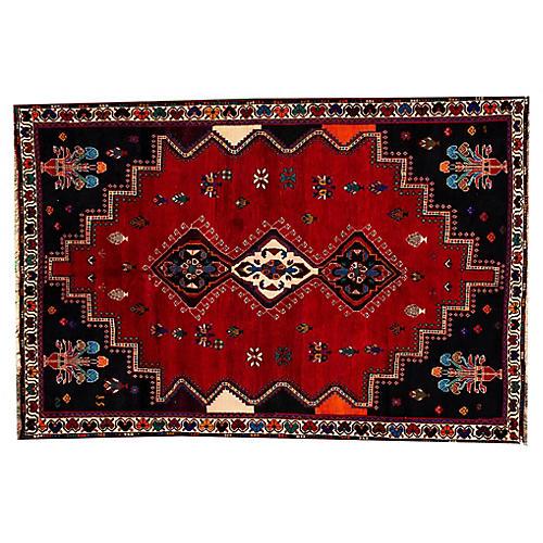 "Vintage Persian Shiraz Rug, 5'9"" x 8'7"""