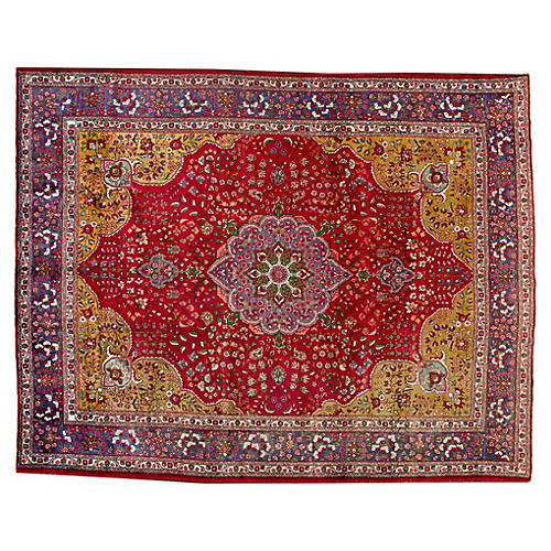 "Persian Tabriz Carpet, 11'2"" x 14'1"
