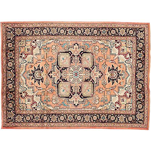 "Vintage Persian Heriz Rug, 6'8"" x 9'5"""
