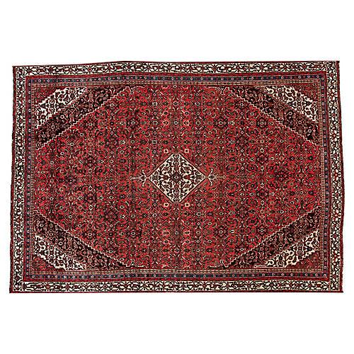 """Persian Hamadan Carpet, 9'4"""" x 13'6"""""""