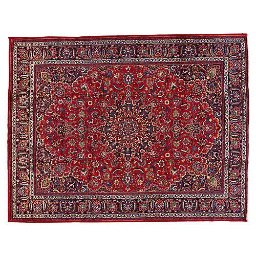 "Persian Kashan Carpet, 9'9"" x 12'7"""