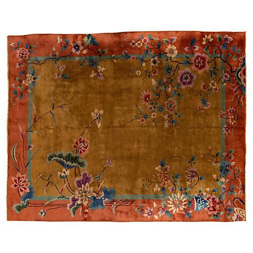 "Chinese Art Deco Carpet, 9' x 11'3"""