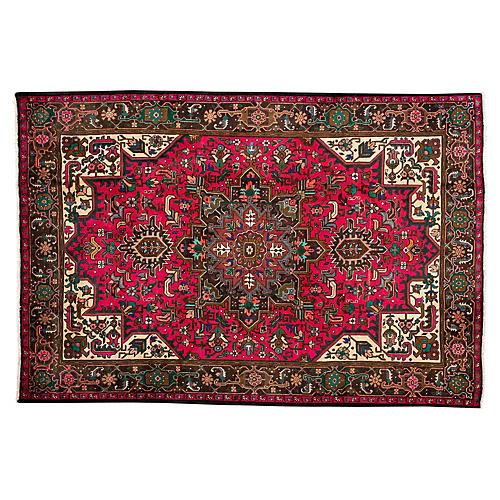"""Persian Tabriz Rug, 6'6"""" x 9'8"""""""