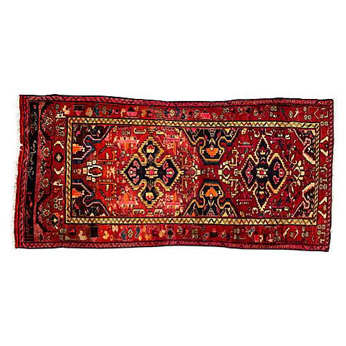 """Persian Rug, 4'2"""" x 9'"""