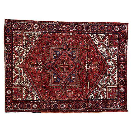 "Persian Heriz Rug, 7'9"" x 10'3"""