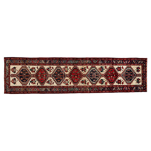 "Persian Heriz Runner, 3'6"" x 14'"