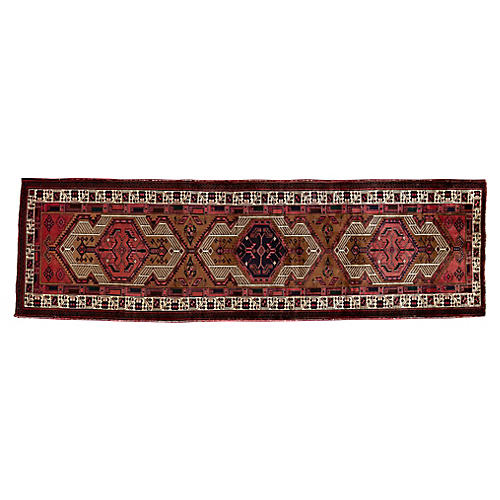 "Persian Heriz Runner, 3'4"" x 11'"