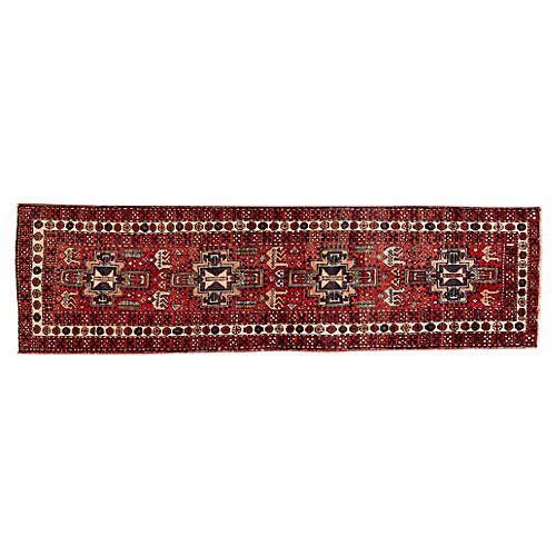 "Persian Heriz Runner, 2'10"" x 10'5"""