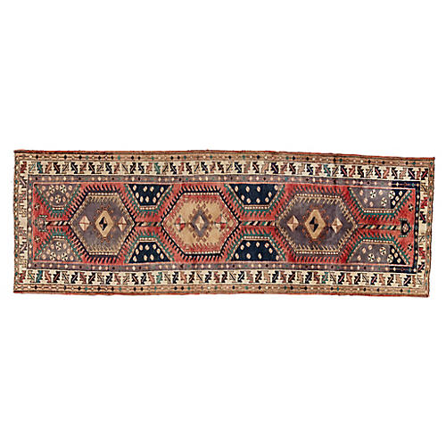 "Persian Heriz Runner, 3'4"" x 9'7"""