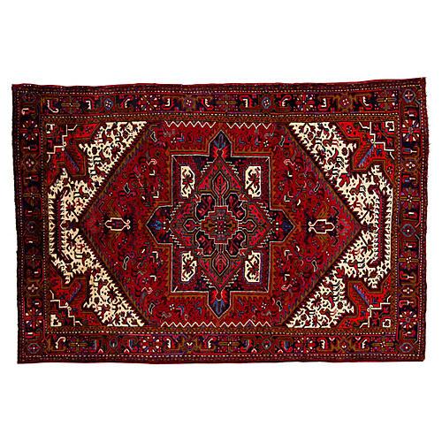 "Persian Heriz Rug, 6'7"" x 9'8"""