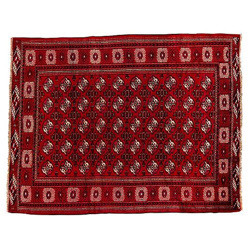 """Persian Turkmen Rug, 6'3"""" x 8'1"""""""