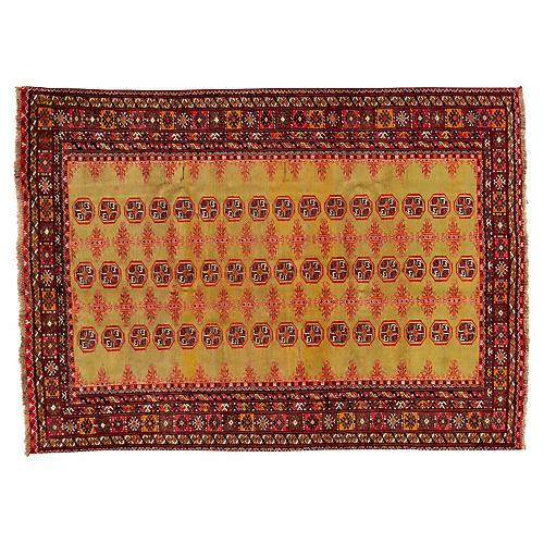 """Persian Turkmen Rug, 6'6"""" x 9'"""