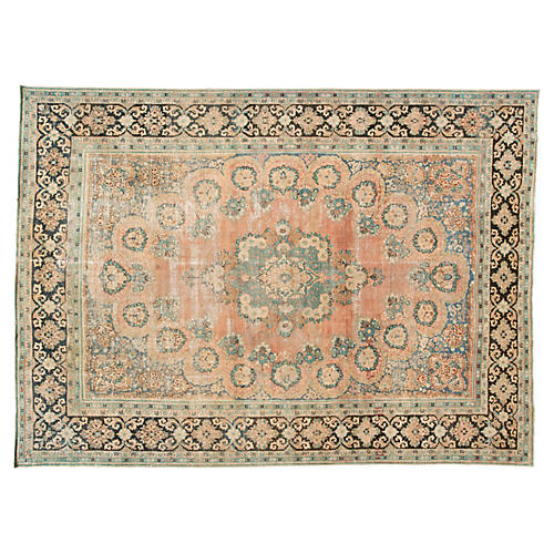 Distressed Persian Carpet, 10' x 13'9""