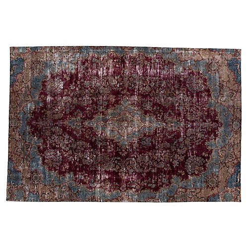 "Distressed Persian Rug, 8'4"" x 12'6"""