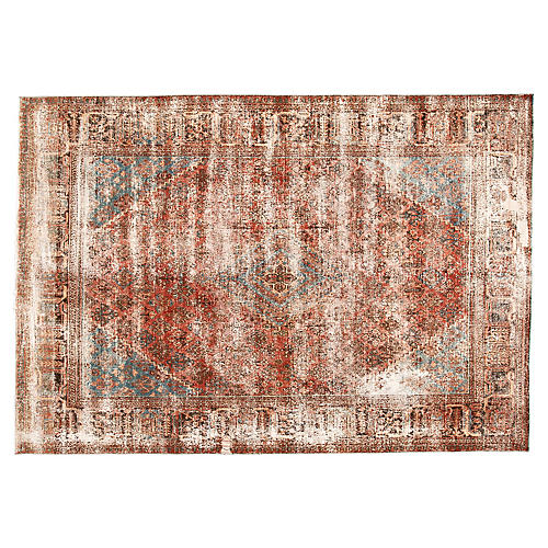 Distressed Persian Rug, 7' x 10'1""