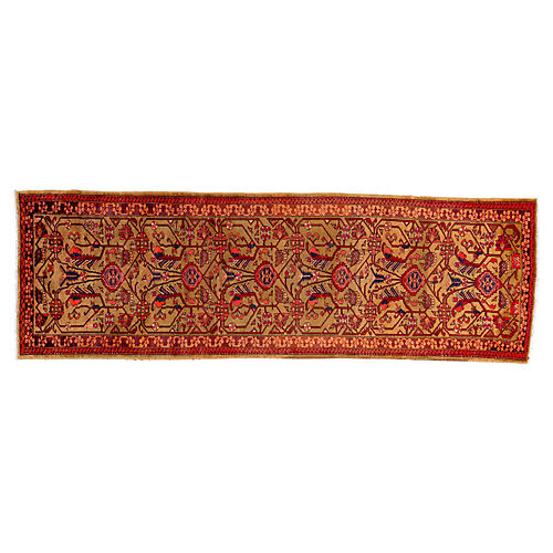 Persian Heriz Runner, 4' x 12'6""
